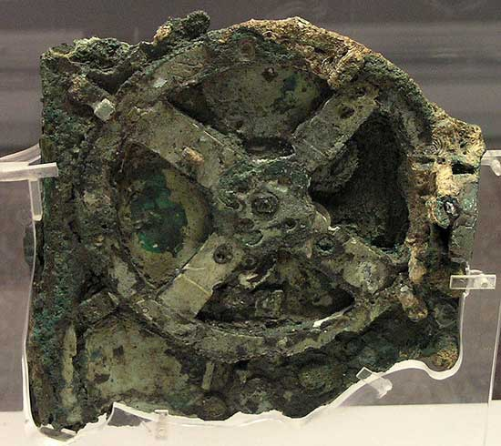 The Antikythera mechanism (main fragment) via Marsyas from Wikipedia